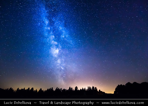 Europe - Czech Republic - Bohemia - Night Sky with Milky Way