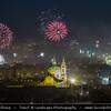 Europe - Czech Republic - Bohemia - Prague - Praha - Historical Centre - Prague Old Town - Staré Město Pražské - UNESCO World Heritage Site - Night during New Year's Firework display