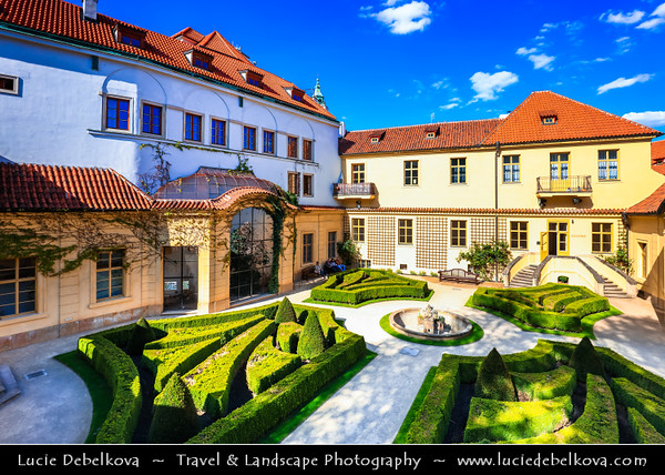 Europe - Czech Republic - Czechia - Bohemia - Čechy - Prague - Praha - Historical Centre - Prague Old Town - Staré Město Pražské - UNESCO World Heritage Site - Malá Strana - Lesser Quarter - Vrtba Garden  - Vrtbovská zahrada - One of the most important & most beautiful Baroque gardens in Prague