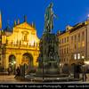 Europe - Czech Republic - Bohemia - Prague - Praha - Historical Centre - Prague Old Town - Staré Město Pražské - UNESCO World Heritage Site - Charles IV Statue on Křižovnické náměstí