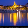 Czech Republic - Prague - Praha - Capital City - Emmaus Monastery (Emmaus, Abbey of the Blessed Virgin Mary and St. Jerome) / Emauzy reflected in Vltava River