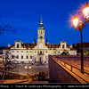Europe - Czech Republic - Bohemia - Prague - Praha - Historical Centre - Prague Old Town - Staré Město Pražské - UNESCO World Heritage Site - Loreta - Baroque historic monument, cloister, clock tower with a famous chime and place of pilgrimage at Dusk - Twilight - Blue Hour - Night