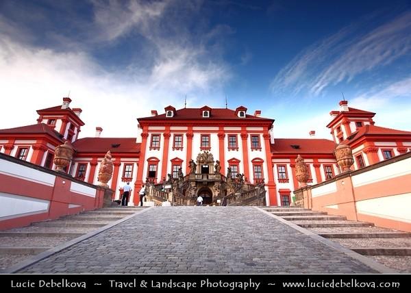 Czech Republic - Prague - Praha - Capital City - Hlavni Mesto - Late Evening at Troja Castle - Trojsky Zamek