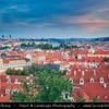 Europe - Czech Republic - Bohemia - Prague - Praha - Capital City - Historical Centre - Prague Old Town - Staré Město Pražské - UNESCO World Heritage Site - Cityscape along river Vltava - Moldau from Prague Castle - Pražský hrad