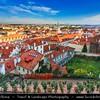 Europe - Czech Republic - Bohemia - Prague - Praha - Capital City - Historical Centre - Prague Old Town - Staré Město Pražské - UNESCO World Heritage Site - Cityscape from Prague Castle - Pražský hrad