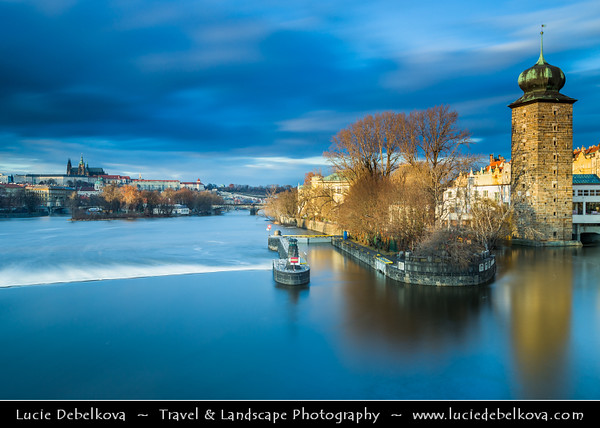 Europe - Czech Republic - Bohemia - Prague - Praha - Capital City - Historical Centre - Prague Old Town - Staré Město Pražské - UNESCO World Heritage Site - Cityscape along Vltava River