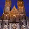Czech Republic - Prague - Praha - Capital City - Hlavni Mesto - Dusk over Church at Vysehrad