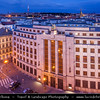 Czech Republic - Prague - Praha - Capital City - Hlavni Mesto - Dusk over Main Building of Czech National Bank - Ceska Narodni Banka