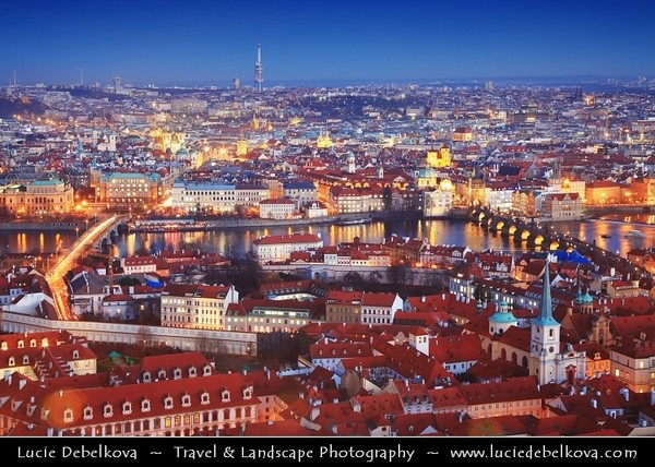 Europe - Czech Republic - Bohemia - Prague - Praha - Historical Centre - Prague Old Town - Staré Město Pražské - UNESCO World Heritage Site - Prague Castle - Pražský hrad - View from Saint Vitus's Cathedral - Katedrála svatého Víta