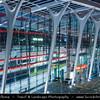 Czech Republic - Prague - Praha - Capital City - Underground Station Strížkov - Modern Metro Architecture during Blue Hour - Twilight - Dusk