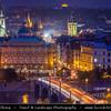 Czech Republic - Prague - Praha - Capital City - Hlavni Mesto - View of Old Town from Prague Castle (Pražský hrad) at Dusk