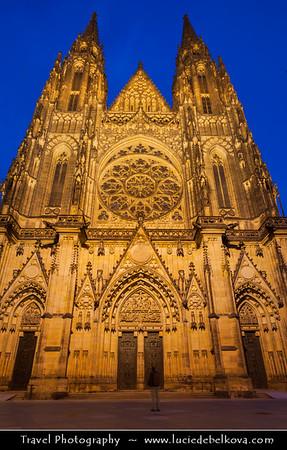 Europe - Czech Republic - Bohemia - Prague - Praha - Capital City - Historical Centre - Prague Old Town - Staré Město Pražské - UNESCO World Heritage Site - Prague Castle - Pražský hrad - Saint Vitus's Cathedral - Katedrála svatého Víta - Roman Catholic cathedral