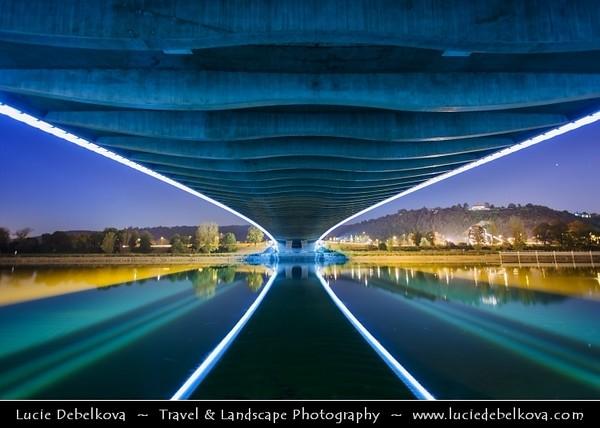 Europe - Czech Republic - Bohemia - Prague - Praha - Capital City - Trojský most - New Troja Bridge over Vltava river - Moldau