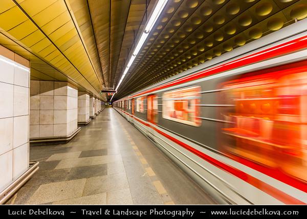 Europe - Czech Republic - Bohemia - Prague - Praha - Modern Prague Underground - Pražské metro