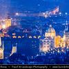 Europe - Czech Republic - Czechia - Bohemia - Čechy - Prague - Praha - Historical Centre - Prague Old Town - Staré Město Pražské - UNESCO World Heritage Site - Malá Strana - Lesser Quarter - Rooftop view over iconic Prague towers