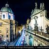 Europe - Czech Republic - Czechia - Bohemia - Čechy - Prague - Praha - Historical Centre - Prague Old Town - Staré Město Pražské - UNESCO World Heritage Site - Křižovnické náměstí - Historical square with Charles IV Statue at Night