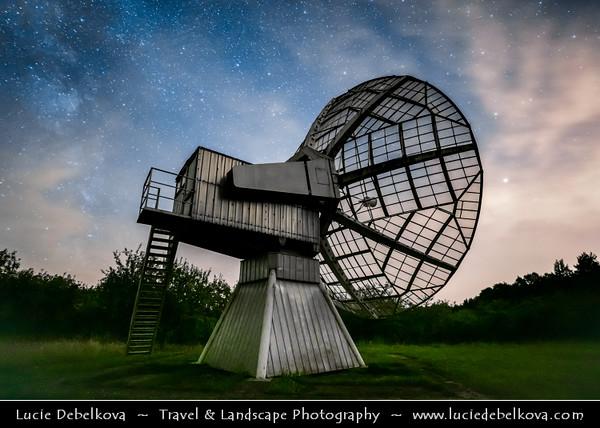 Europe - Czech Republic - Czechia - Bohemia - Ondrejov Observatory - Principal observatory of the Astronomical Institute (Astronomický ústav) of the Academy of Sciences of the Czech Republic  - Night sky with Milky Way