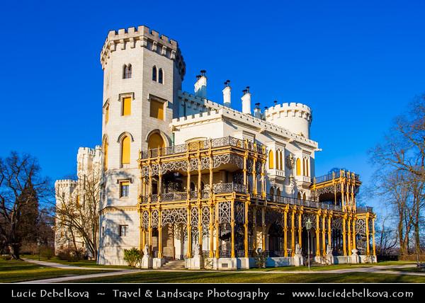 Europe - Czech Republic - South Bohemian Region - State Chateau of Hluboká - Státní zámek Hluboká nad Vltavou - One of the most beautiful castles of the Czech Republic