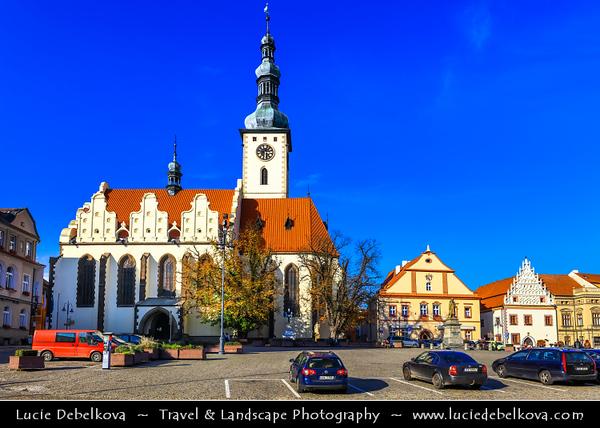 Europe - Czech Republic - Czechia - Česko - South Bohemian Region - Jižní Čechy - Tábor - Historical town centre with several squares, crooked lanes & large green areas