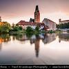 Europe - Czech Republic - Czechia - South Bohemian Region - Jižní Čechy - Rožmberk nad Vltavou - Historical town with one of oldest castles in Bohemia standing on promotory carved out on three sides by Vltava river