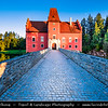 Europe - Czech Republic - Czechia - Bohemia - South Bohemian Region - Červená Lhota Vodní Zámek - Red Lhota Water Château - Iconic Castle standing at the middle of lake on rocky island