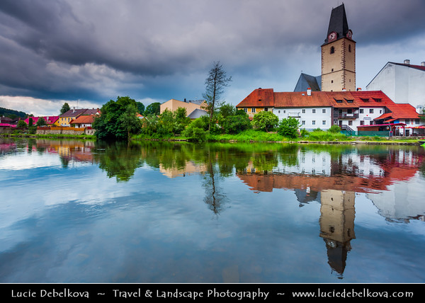 Europe - Czech Republic - South Bohemian Region - Hrad Rožmberk nad Vltavou - One of the oldest castles in Bohemia standing on a promotory carved out on three sides by Vltava river
