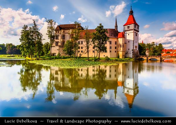 Europe - Czech Republic - South Bohemian Region - Zámek Blatná - Blatná Water Castle in center of an artificial lake