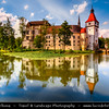 Europe - Czech Republic - South Bohemian Region - Zámek Blatná - Blatná Water Castle in center of an artificial lake