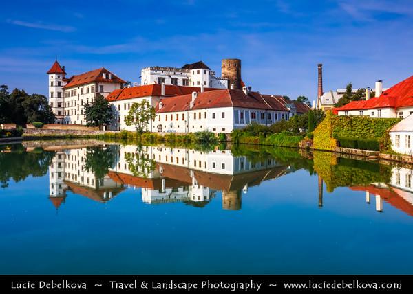 Europe - Czech Republic - South Bohemian Region - Jižní Čechy - Jindřichův Hradec - Historical Town with city castle and palace, third largest in country after those in Prague and Český Krumlov