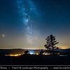 Europe - Czech Republic - Czechia - South Bohemian Region - Jižní Čechy - Hrad Kašperk - Kasperk Castle - Medieval & most highly located royal castle in Bohemia with elevation 886 metres (2,907 ft) - Night Sky with Stars & Milky Way