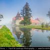 Europe - Czech Republic - Czechia - West Bohemia Region - Západní Čechy - Vodní hrad Švihov - Svihov Water Castle - Water castle built in Gothic period located in Plzeň Region