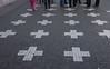 Martyrs crosses<br /> Prague