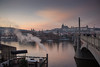 Dusk at the Maneseuv Bridge<br /> Prague