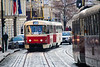 Trams on Karmelitska<br /> Prague