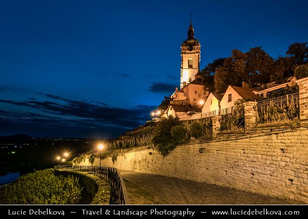 Europe - Czech Republic - Czechia - Central Bohemian Region - Střední Čechy - Středočeský kraj - Mělník - Melnik - Middle Ages Royal town situated at confluence of Vltava & Labe rivers with Renaissance style Mělník castle as most important sight