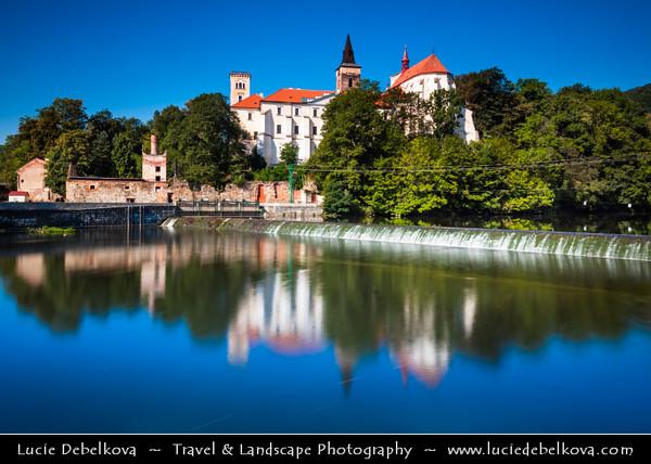 Europe - Czech Republic - Bohemia - Čechy - Klášter Sázava - Sázavský klášter - Sázava Monastery - Benedictine abbey & monastery established by Bretislaus I, Duke of Bohemia near Prague around 1032  along Sázava River