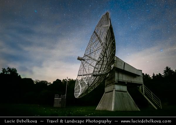 Europe - Czech Republic - Czechia - Bohemia - Ondrejov Observatory - Principal observatory of the Astronomical Institute (Astronomický ústav) of the Academy of Sciences of the Czech Republic - Night sky with Stars