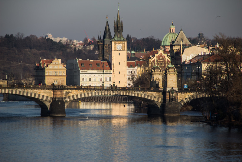 View from Jiraskuv Bridge<br /> Prague