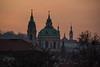 St Nicholas, from Manusev Bridge<br /> Prague