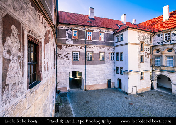 Europe - Czech Republic - Czechia - Bohemia - Brandýs Nad Labem Zámek - Medieval castle/chateau in Renaissance style located on left side of river Elbe - Labe