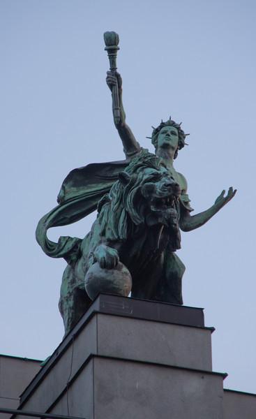 Statue, National Bank<br /> Prague