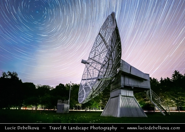 Europe - Czech Republic - Czechia - Bohemia - Ondrejov Observatory - Principal observatory of the Astronomical Institute (Astronomický ústav) of the Academy of Sciences of the Czech Republic - Night sky with Star Trails