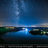 Europe - Czech Republic - Czechia - Bohemia - Čechy - Slapy Water Reservoir - Part of Vltava Cascade water management system - Night sky with stars & Milky Way