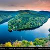Europe - Czech Republic - Central Bohemian Region - Střední Čechy - Smetanova vyhlidka - Smetana's Viewpoint - Famous viewpoint of meander of Vltava River - Moldau