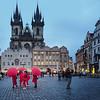 Umbrellas in the Square