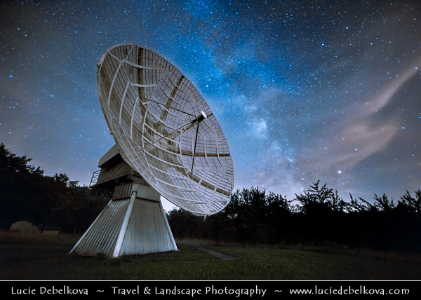 Europe - Czech Republic - Czechia - Bohemia - Ondrejov Observatory - Principal observatory of the Astronomical Institute (Astronomický ústav) of the Academy of Sciences of the Czech Republic - Night sky with Stars & Milky Way