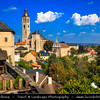 Europe - Czech Republic - Central Bohemia - Kutná Hora - UNESCO World Heritage Site - Historical Town Centre - Kostel svatého Jakuba Staršího - Church of Saint Jacob - One of the major town churches with its iconic 85 metres high tower