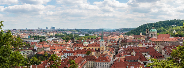 Panoramic from Prague Castle