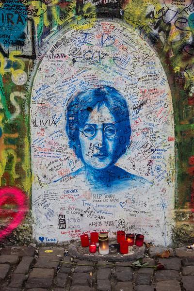 John Lennon Wall<br /> Prague
