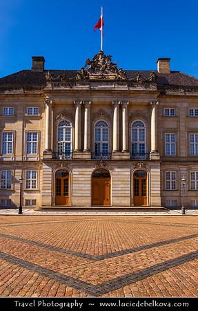 Denmark - Copenhagen - Kopenhagen - København - Køpmannæhafn - Köpenhamn - Capital City - Amalienborg Palace - Winter home of the Danish royal family